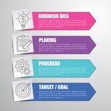 Het malplaatjeillustratie van het Infographicconcept voor uw presentatieontwerp Stock Foto's