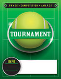 Het Malplaatjeillustratie van tennistoernooien Royalty-vrije Stock Foto's