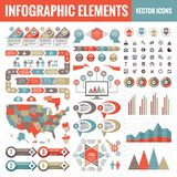 Het malplaatjeinzameling van Infographicelementen - bedrijfs vectorillustratie voor presentatie, boekje, website enz. vector illustratie