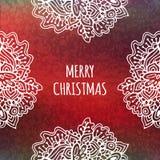 Het malplaatjekaart van het Kerstmiskader Stock Foto's