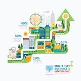 Het malplaatjeontwerp Infographic van de bedrijfspijlvorm route aan succes Royalty-vrije Stock Foto