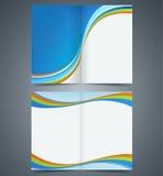 Het malplaatjeontwerp van de Bifoldbrochure, bedrijfspamflet, Royalty-vrije Stock Fotografie