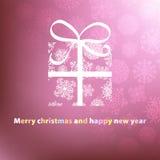 Het malplaatjeontwerp van de kerstkaart. + EPS8 Royalty-vrije Stock Afbeelding