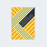 Het malplaatjeontwerp van de Minimalisticbrochure Vlieger, boekje, het malplaatje van de jaarverslagdekking Moderne diagonale abs royalty-vrije illustratie