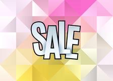 Het malplaatjeontwerp van de verkoop abstract banner op zachte veelhoekige elegante achtergrond Speciale aanbieding, kleurrijke b Royalty-vrije Stock Fotografie