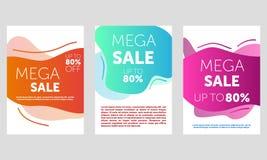Het malplaatjeontwerp van de verkoopbanner, Grote verkoopspeciale aanbieding eind van de banner van de seizoenspeciale aanbieding vector illustratie