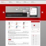 Het malplaatjeontwerp van de websiteinterface Vector Royalty-vrije Stock Fotografie
