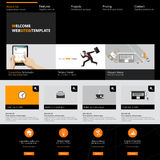 Het malplaatjeontwerp van de websiteinterface Vector Stock Foto's