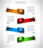 Het malplaatjeontwerp van Infographic - Originele geometrics Stock Foto