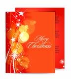 Het malplaatjeontwerpen van Kerstmis Royalty-vrije Stock Afbeelding