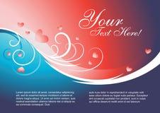 Het malplaatjevector van de valentijnskaart Stock Afbeelding
