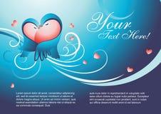 Het malplaatjevector van de valentijnskaart Royalty-vrije Stock Afbeelding
