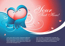 Het malplaatjevector van de valentijnskaart Stock Afbeeldingen