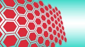 Het malplaatjevormen van de zeshoekenlay-out, van de achtergrond wetenschapstechnologie conceptie royalty-vrije illustratie