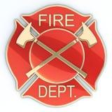 Het Maltese kruis van het brandweerkorps Stock Afbeeldingen