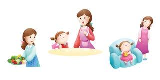 Het mamma vertelt aan haar dochter Vector Illustratie