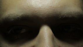 Het man gezicht stock video
