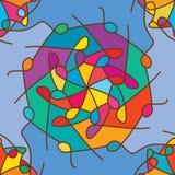 Het Mandalagat verbindt het naadloze patroon van de kleurensymmetrie Royalty-vrije Stock Foto's