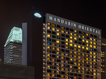 Het Mandarin Oriental -hotel in Singapore Stock Afbeelding
