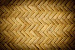 Het mandevlechten van het bamboe in Thailand Stock Afbeelding