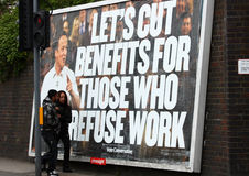 Het manifest van David Cameron, Engeland royalty-vrije stock afbeeldingen
