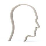 Het mannelijke hoofd van het profiel Royalty-vrije Illustratie