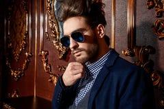 Het mannelijke model van Vogue Stock Fotografie