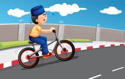 Het mannelijke Moslim biking stock illustratie