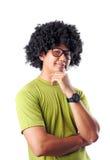 Het mannelijke portret van Afro royalty-vrije stock afbeelding