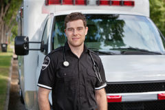 Het mannelijke Portret van de Paramedicus Royalty-vrije Stock Foto's