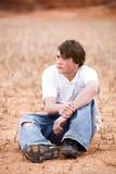 Het mannelijke portret van de tiener Royalty-vrije Stock Afbeeldingen