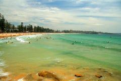 Mannelijk Strand in Sydney Stock Afbeelding