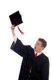 Het mannelijke student een diploma behalen Royalty-vrije Stock Foto
