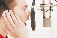 Het mannelijke zingen Stock Afbeeldingen