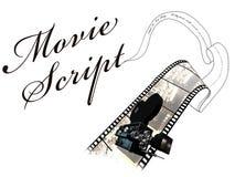 Het manuscript van de film stock illustratie