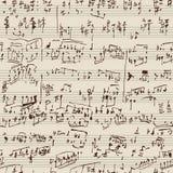Het manuscript van de muziek Stock Afbeeldingen