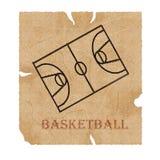 Het manuscript van het basketbal stock illustratie