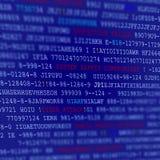 Het Manuscriptachtergrond van de computercode Stock Afbeeldingen
