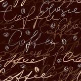 Het manuscriptpatroon van de koffie stock illustratie