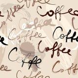 Het manuscriptpatroon van de koffie Royalty-vrije Stock Afbeelding