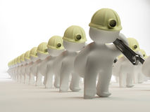 Het marcheren aan het werk Stock Afbeelding