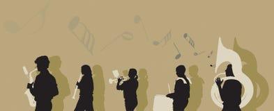 Het marcheren NIEUWE Band vector illustratie