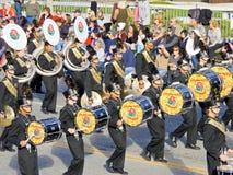 Het Marcheren van de Band van de Tijger van Conroe Band Stock Foto