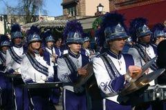 Het Marcheren van de middelbare school Band Royalty-vrije Stock Foto's