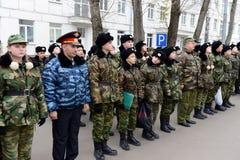Het marcheren van parade in de kadetkorpsen van de politie Royalty-vrije Stock Foto's