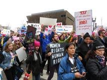 Het marcheren voor Vrouwen` s Rechten in Washington DC Royalty-vrije Stock Foto