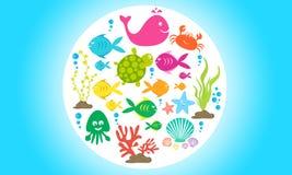 Het mariene leven stock illustratie