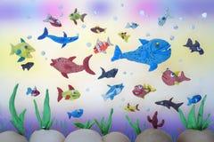 Het mariene leven van de plasticine stock illustratie