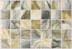 Het marmer van collagetegels met kleurrijke gevolgen Stock Afbeelding