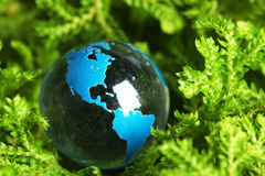 Het marmer van de aarde in installatie Royalty-vrije Stock Foto